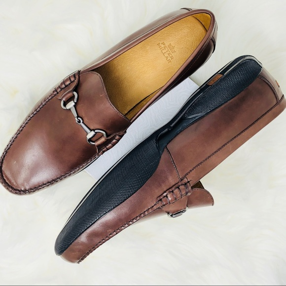 97d69091c38 NWT Peter Millar Mens Brown Driving Moc Loafers